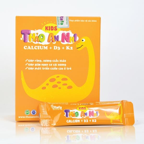 THẢO AN NHI CALCIUM + D3 + K2 (Hộp 20 gói x 10 ml)