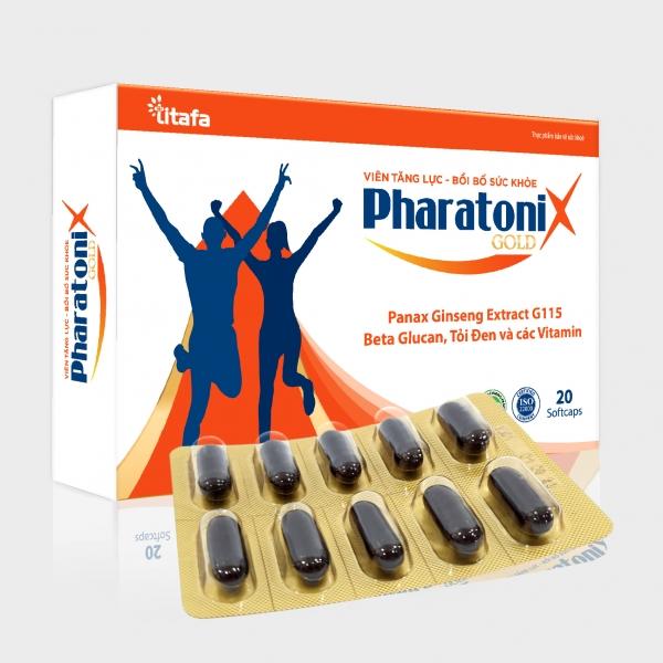 Viên tăng lực - bồi bổ sức khỏe PHARATONIX GOLD (Hộp 20 viên)